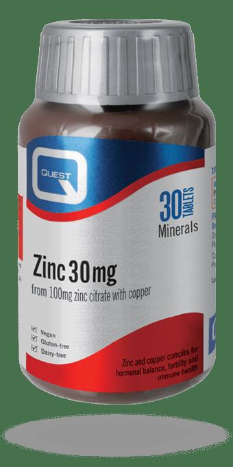 Quest Zinc 45/30 15mg
