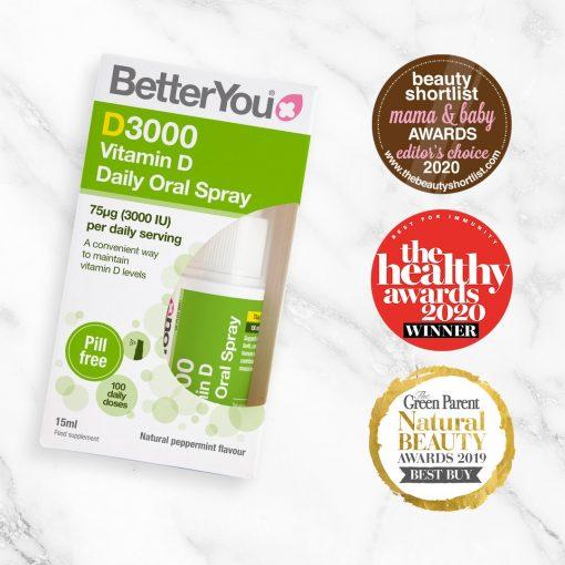 BetterYou Vitamin D3000 Oral Spray